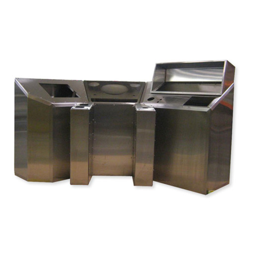 6-Section Stainless Steel Console