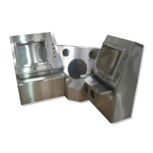 3-Section Stainless Steel Console