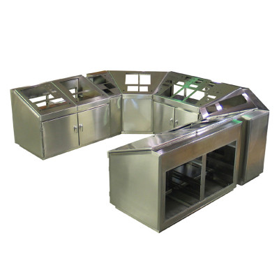 7-Section Stainless Steel Console