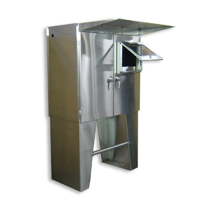 Custom floor mount enclosure heritage manufacturing for Custom stainless steel cabinet doors
