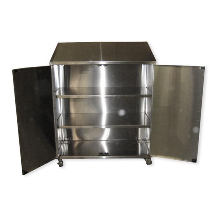 Custom rolling cart heritage manufacturing custom for Custom stainless steel cabinet doors