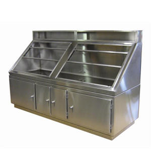 Custom Stainless Steel Console with Doors