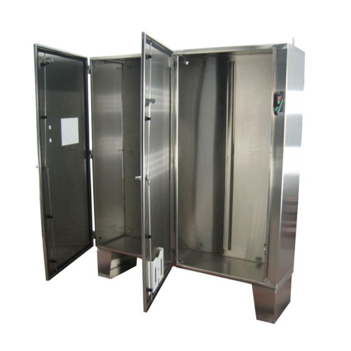 two door disconnect enclosure heritage manufacturing custom stainless steel and painted