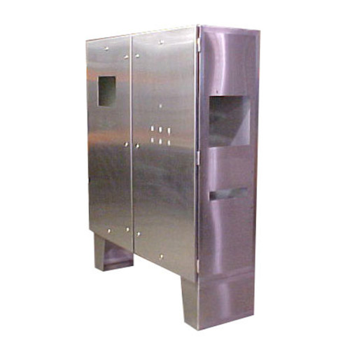 Floor Mount Double Door Stainless Steel Cabinet