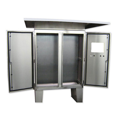 Floor-Mount Double Door Stainless Steel Cabinet