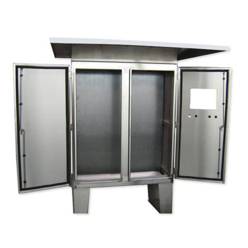 Floor-Mount Double Door Stainless Steel Cabinet