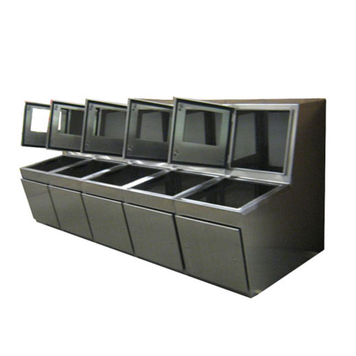 Multi-Unit Stainless Steel Console
