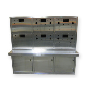 Stainless Steel Enclosure with Countertop