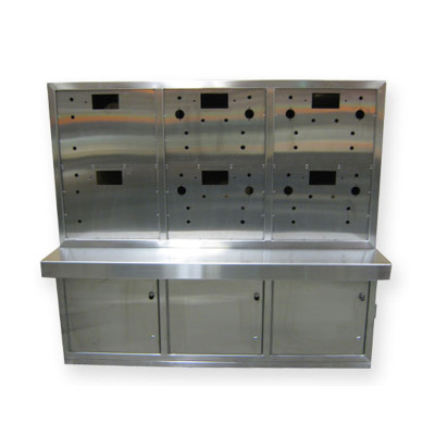 6-Door Stainless Steel Console
