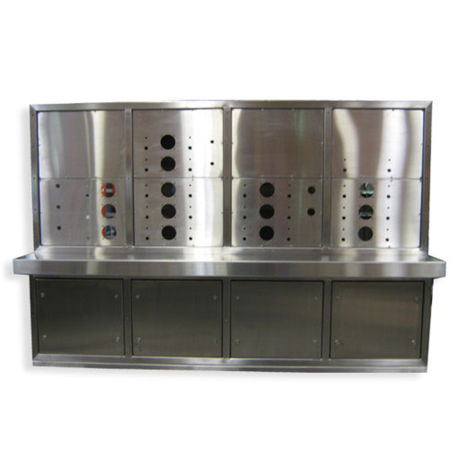 8-Door Stainless Steel Console