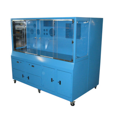 Custom Painted Steel Cabinet w/ Lexan Windows