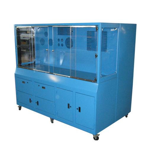 Custom Painted Steel Cabinet w/ Lexan Windows