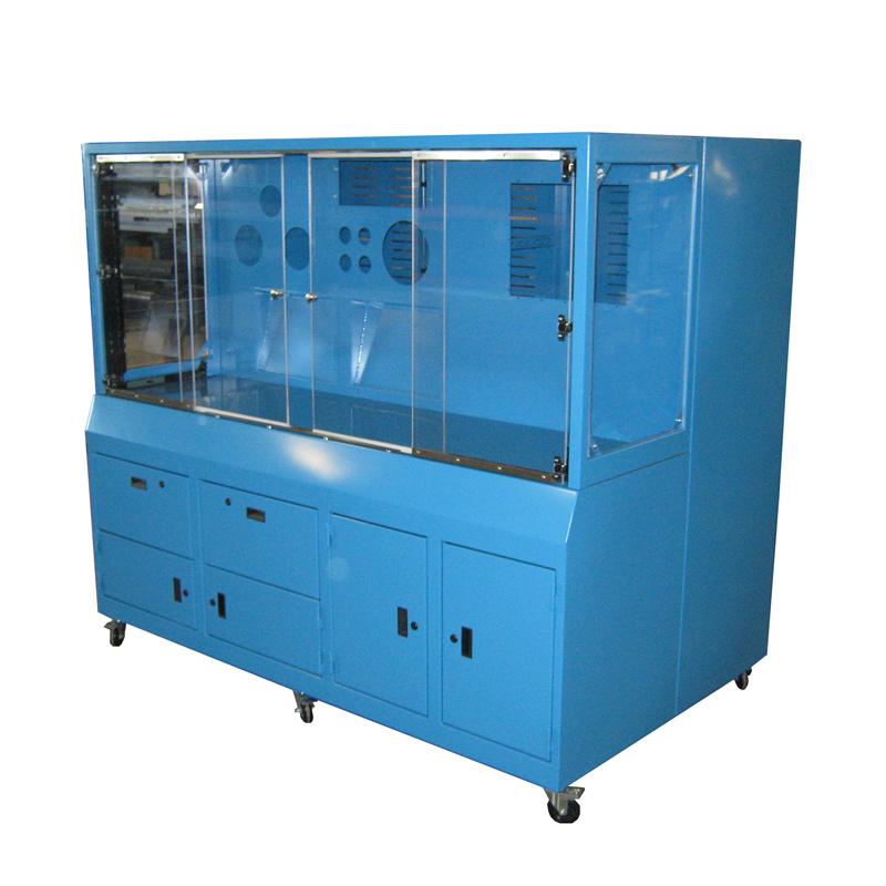 Custom Painted Steel Cabinet w/ Lexan Windows | Heritage