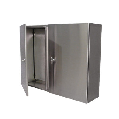 Stainless Steel Control Cabinet - Wall Mount Double Door