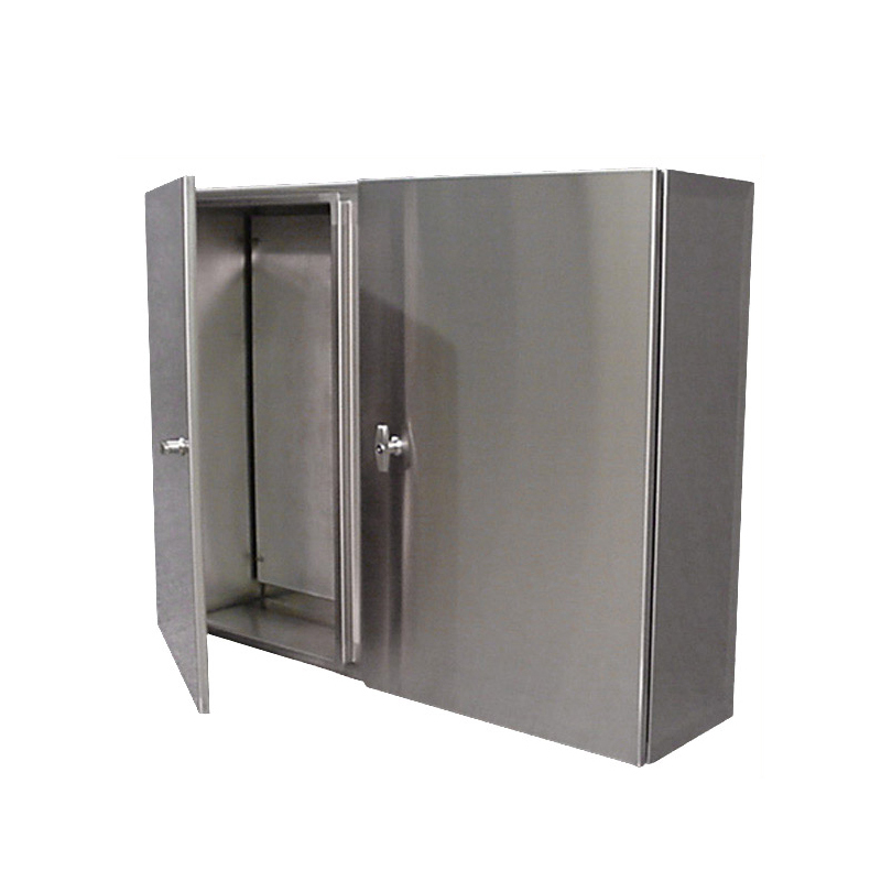 Stainless Steel Control Cabinet Wall Mount Double Door