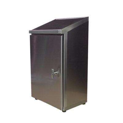 Stainless Steel Cabinet - Wall Mount Single Door w/Sloped Top