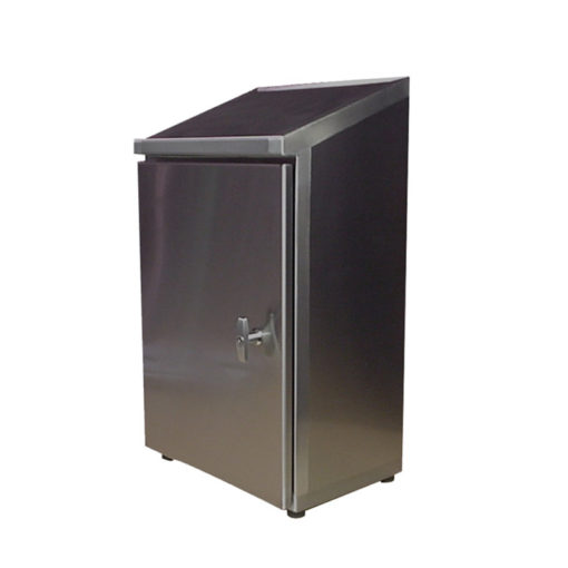 Stainless Steel Cabinet - Wall Mount Single Door w/Sloped Top