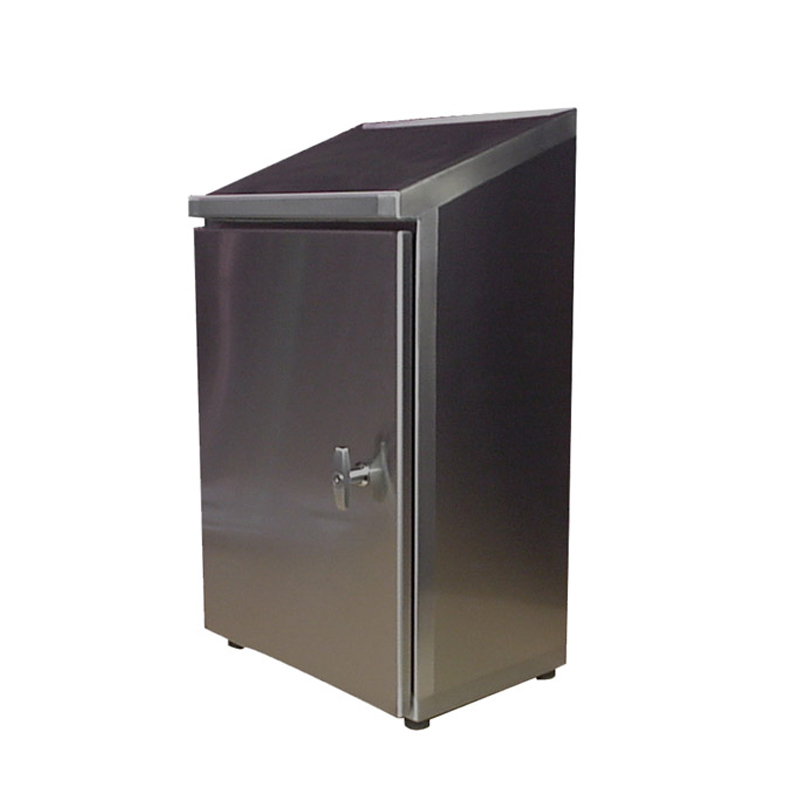 Stainless steel electrical enclosure single door w for Custom stainless steel cabinet doors