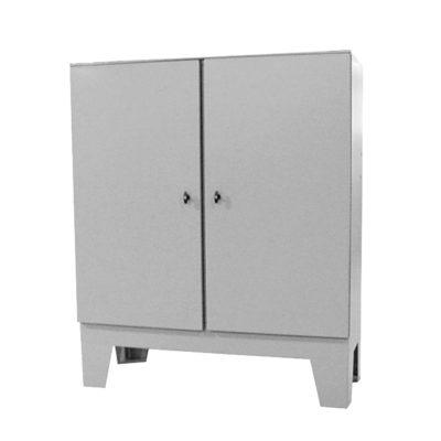 Painted Steel Cabinet - Floor Mount Double Door