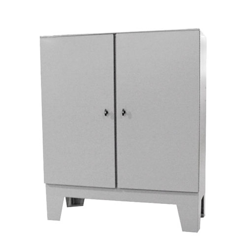 Painted Steel Cabinet - Floor Mount Double Door