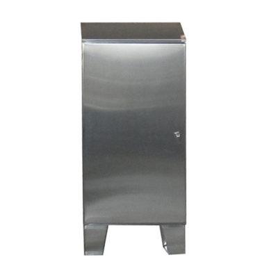 Stainless Steel Cabinet - Floor Mount Single Door w/Sloped Top