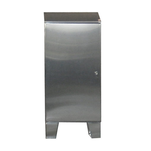 Stainless Steel Cabinet - Floor Mount Single Door w/Sloped Top