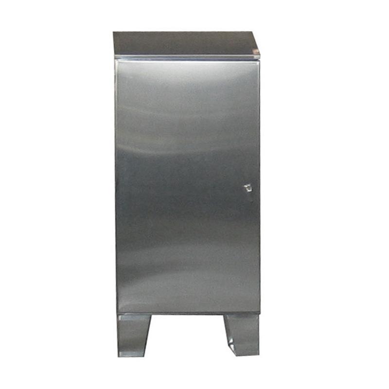 Stainless steel cabinet floor mount single door w sloped for Custom stainless steel cabinet doors