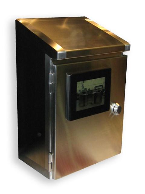 Stainless steel control cabinets single door 20 hx16 for Custom stainless steel cabinet doors