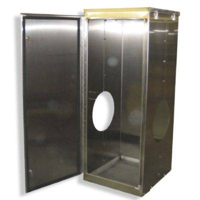 Control cabinets heritage manufacturing custom for Custom stainless steel cabinet doors