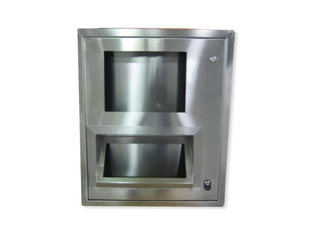 Stainless Steel Control Cabinets Flush Mount Single Door 36hx24