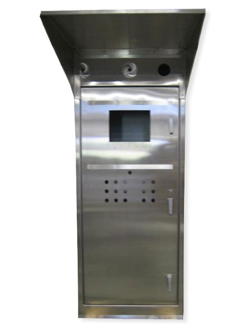 Stainless Steel Control Cabinets Floor Mount Single Door 78hx36